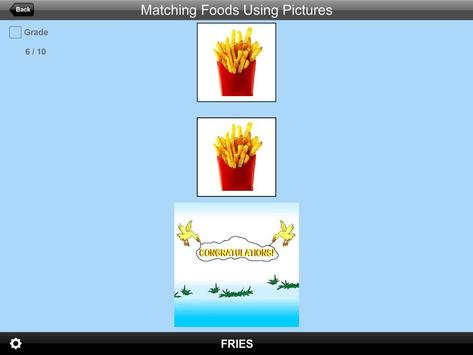 Matching Foods Using Pictures Lite Version screenshot 10