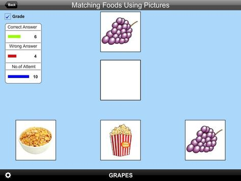 Matching Foods Using Pictures Lite Version screenshot 4