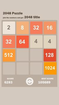New 2048 puzzle apk screenshot
