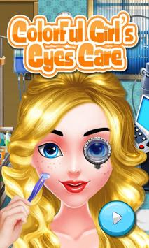 Colorful Girl's Eyes Care poster