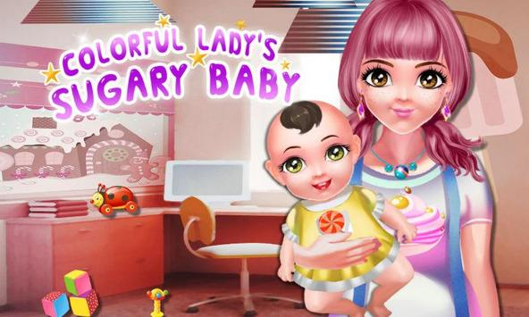 Colorful Lady's Sugary Baby poster