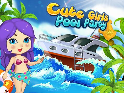 Cute Girls Pool Party-Splash apk screenshot