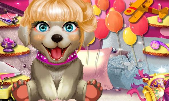 Cute Dog Makeup Garden apk screenshot
