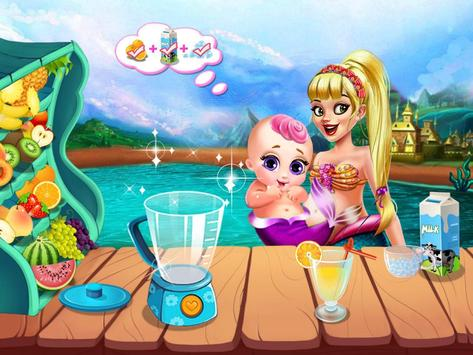 Cute Mermaid Mommy Care-Baby apk screenshot