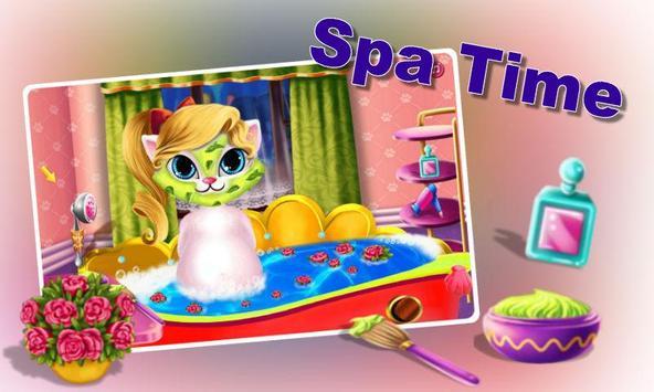 Pregnant Kitty Spa-Salon Day poster