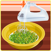 Cooking games frying fish icon
