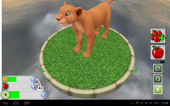 Virtual Pet 3D -  Cartoon Lion apk screenshot