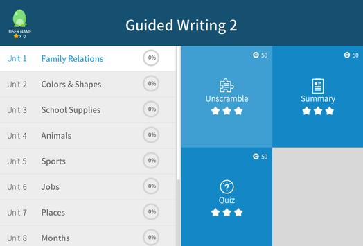 Guided Writing 2 apk screenshot