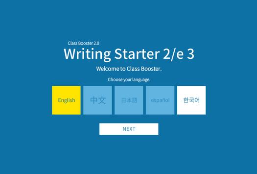 Writing Starter 2nd 3 poster