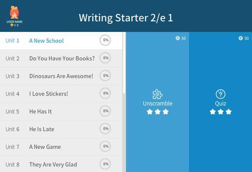 Writing Starter 2nd 1 apk screenshot