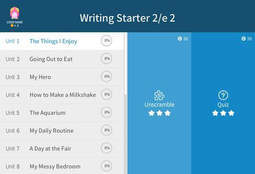 Writing Starter 2nd 2 apk screenshot