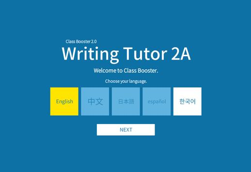 Writing Tutor 2A poster