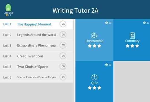 Writing Tutor 2A apk screenshot