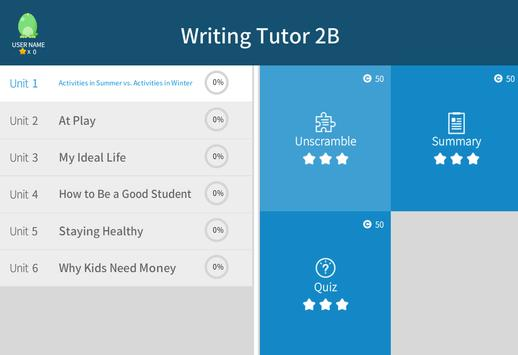Writing Tutor 2B apk screenshot