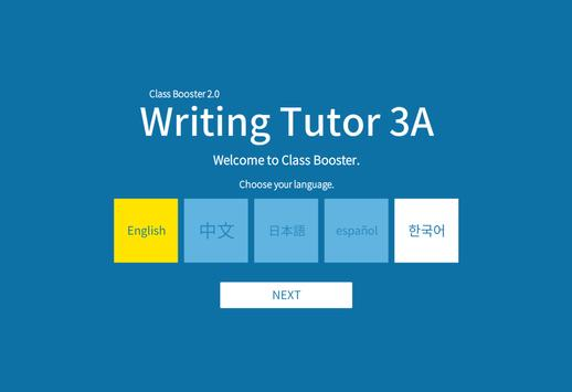 Writing Tutor 3A poster