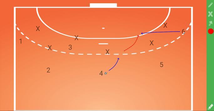 CoachIdeas - HandBall Tactics Board screenshot 1