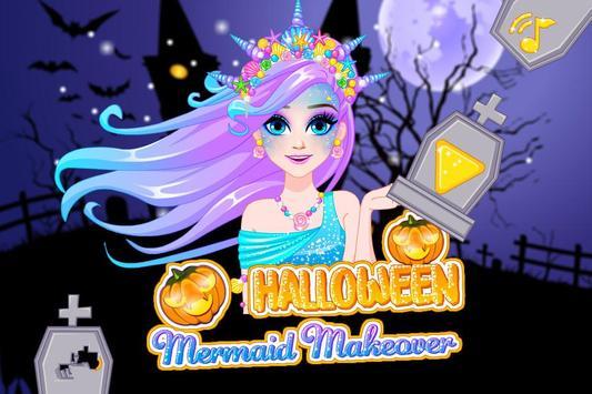 Halloween Mermaid Makeover poster