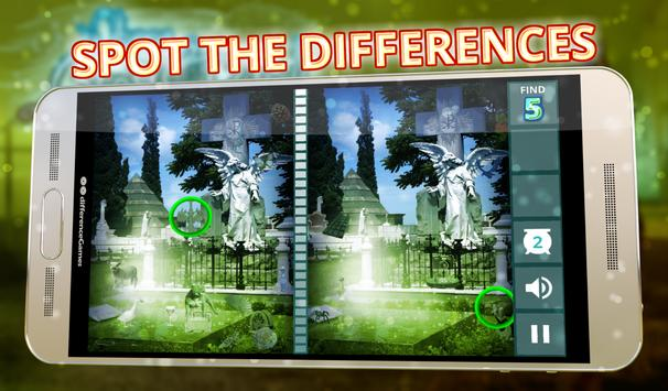 Spot The Differences Ghosts apk screenshot