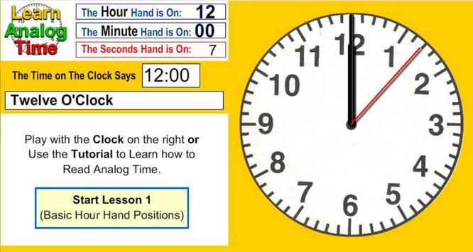 Learn Analog Time apk screenshot