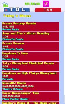 TDR Dashboard , Tokyo Disney Land and Sea times apk screenshot