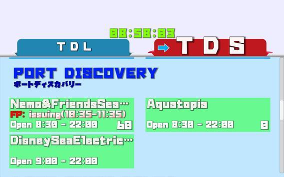 TDR Dashboard queue wait times apk screenshot
