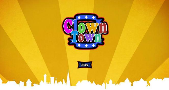 Clown Town Slide Puzzle poster
