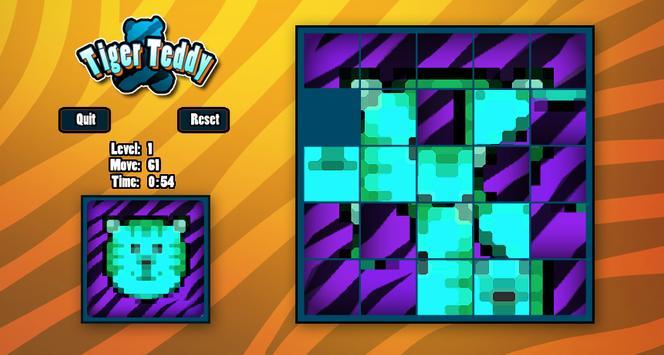 Tiger Teddy Slide Puzzle apk screenshot