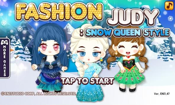 Fashion Judy: Snow Queen style poster