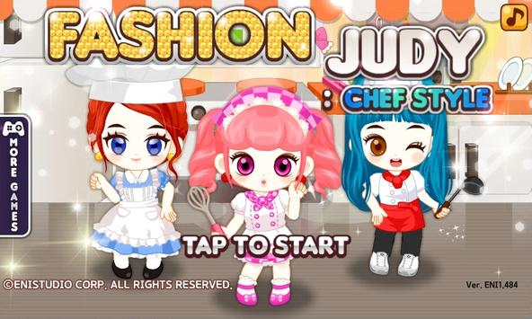Fashion Judy: Chef style poster
