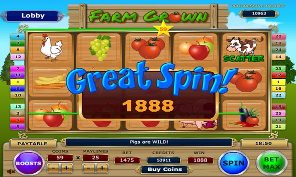Farm Grown Slots apk screenshot