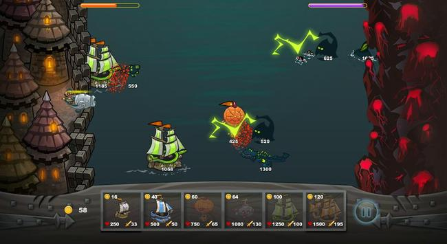 Ships vs Sea Monsters apk screenshot