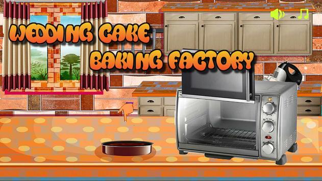 Wedding Cake Baking Factory poster