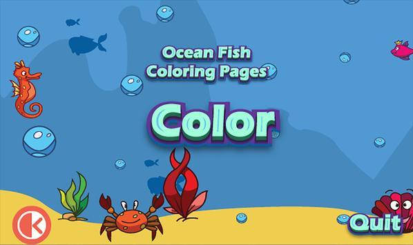 Ocean Fish Coloring Pages Apk Screenshot