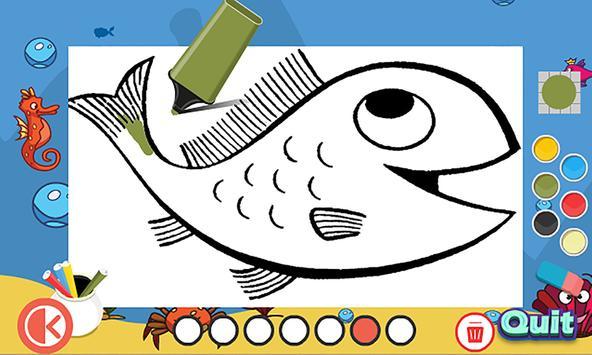 Ocean Fish Coloring Pages Screenshot 7