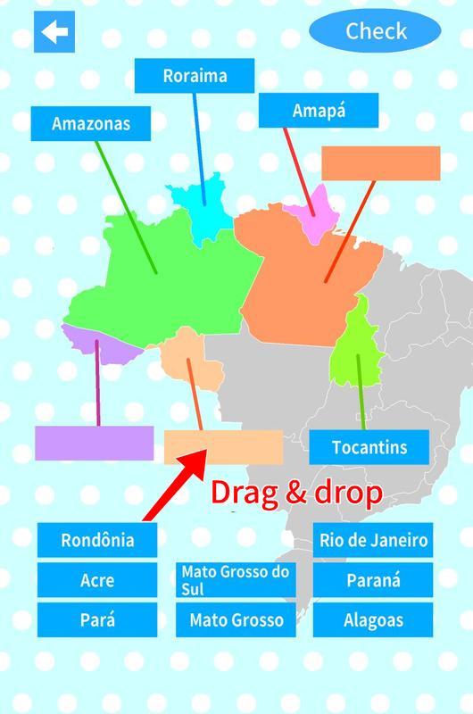Brazil states capitals map quiz apk download free education app brazil states capitals map quiz apk screenshot gumiabroncs Gallery