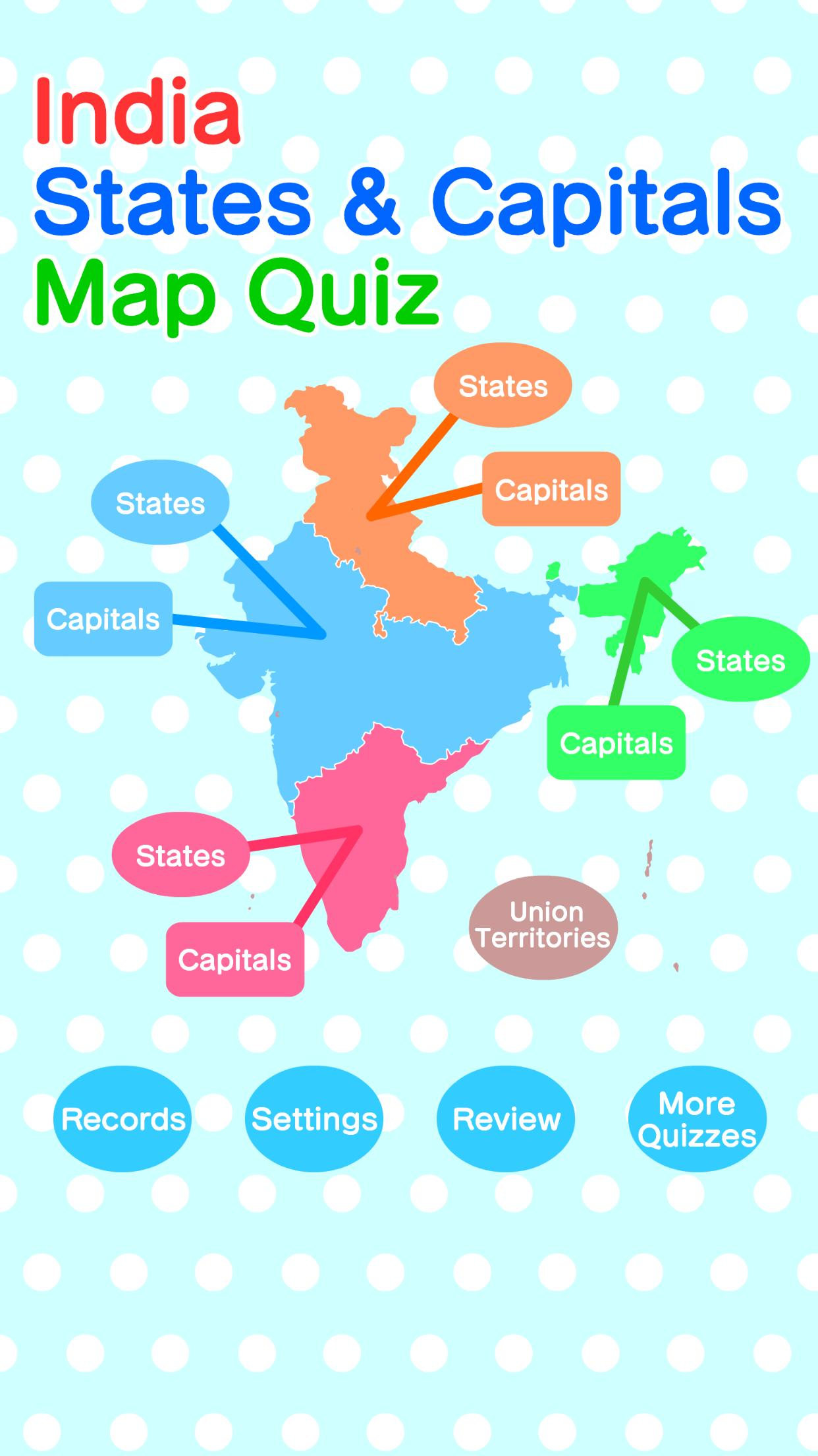 India States & Capitals Map Quiz - Geography Game for Android - APK on