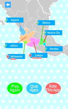 Mexico States & Capitals Map Quiz screenshot 2
