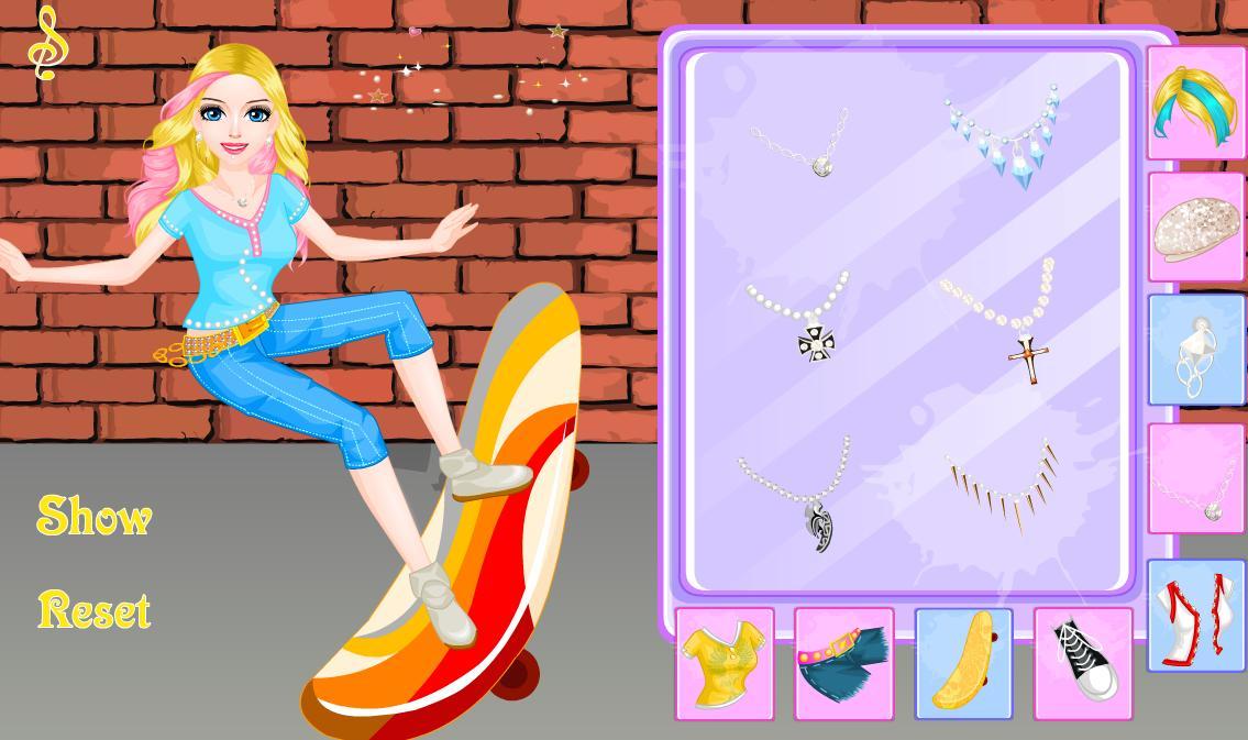 Juego Chica Skater Vestir Para Juegos De Chicas For Android