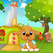 Dog Escape From Green House Best Escape Game-333 icon