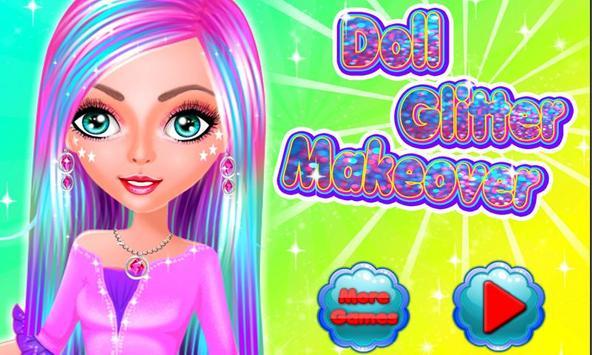 Doll Glitter Makeover screenshot 4