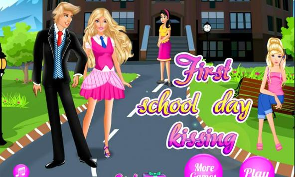 First School Day Kissing poster