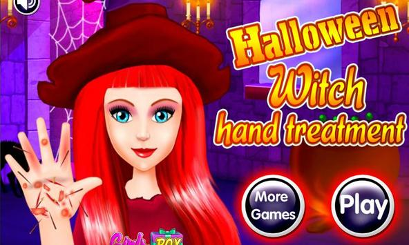 Halloween Witch Hand Treatment poster