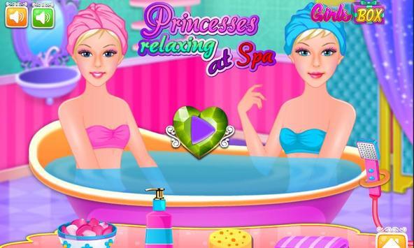 Princesses Relaxing at Spa poster