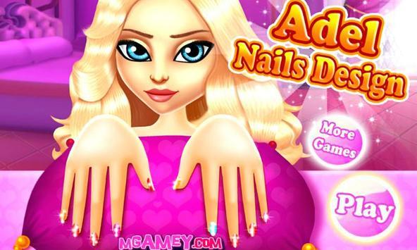 Adel Nails Design Salon poster
