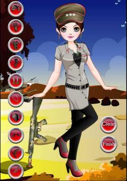 Dress up - Games for Girls - Army Girl Dress up screenshot 1