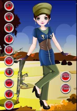 Dress up - Games for Girls - Army Girl Dress up screenshot 2