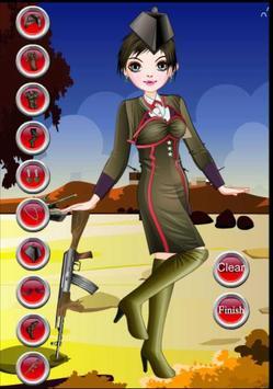Dress up - Games for Girls - Army Girl Dress up screenshot 3