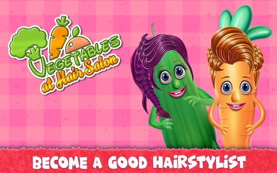 Vegetables at Hair Salon poster
