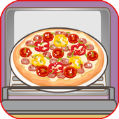 cooking yummy pizza for kids icon