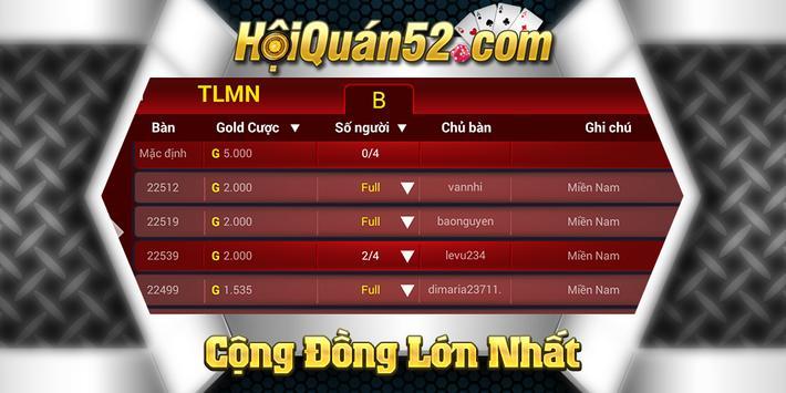 Hoi Quan 52 –Game Bài Đỉnh Cao apk screenshot